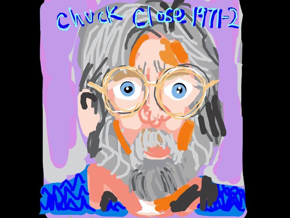 John, Chuck Close, 1971-72