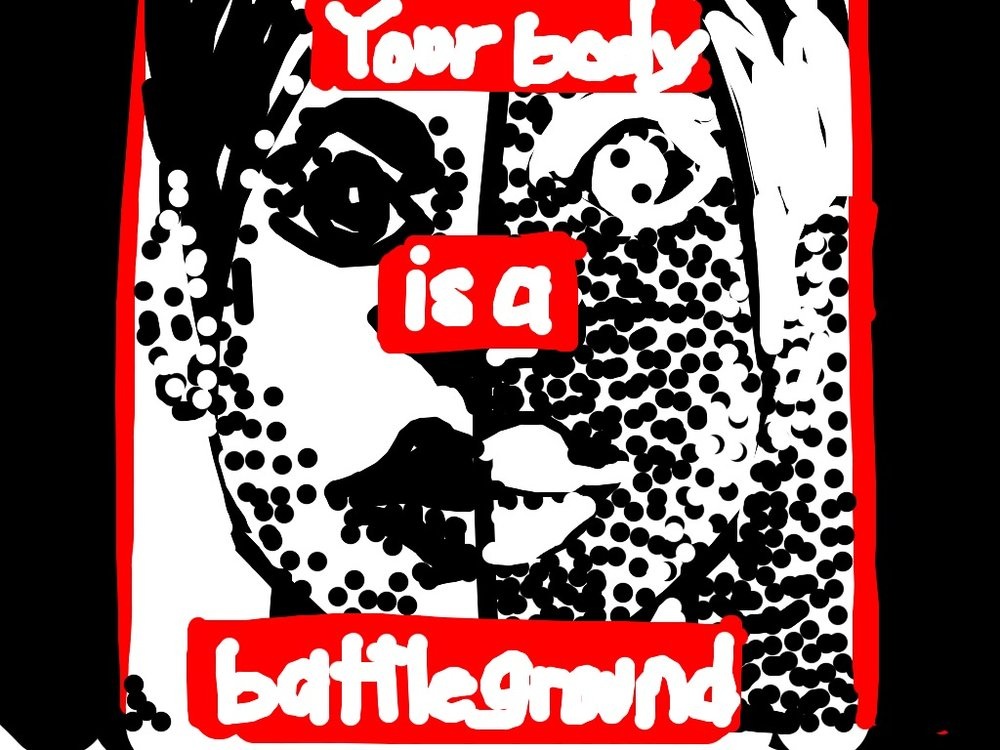 Untitled (your body is a battleground), Barbara Kruger, 1989