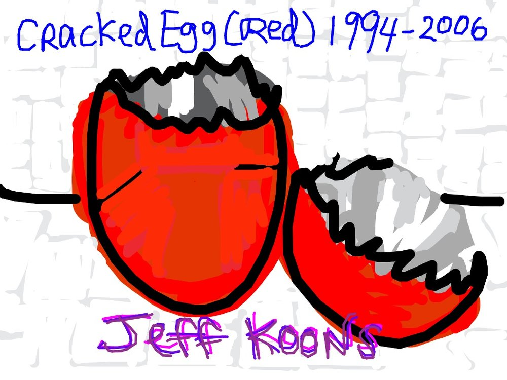 Cracked Egg (Red), Jeff Koons, 1994-2008