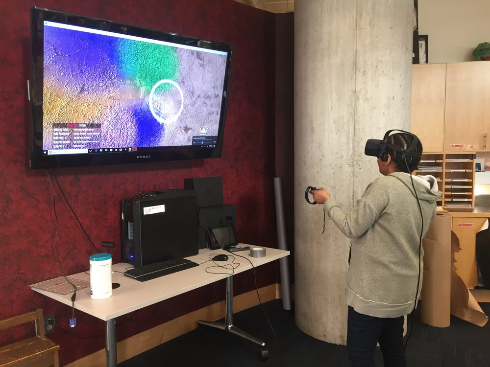 "Members of Best Buy Teen Tech Center draw ""Common Urban Edible Flowers"" in Virtual Reality"