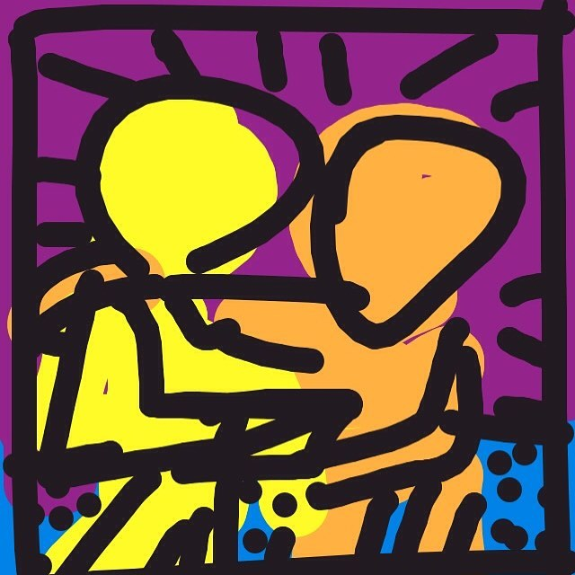 Best Buddies, Keith Haring, 1990 #museumdraw