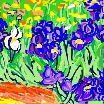 Irises, Vincent van Gogh, 1889 at @GettyMuseum -- Learn more: http://www.getty.edu/art/collection/objects/826/vincent-van-gogh-irises-dutch-1889/ #museumdraw