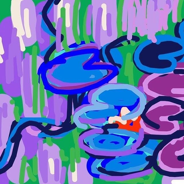 Water Lilies, Claude Monet at @MetMuseum -- Learn more: http://www.metmuseum.org/collection/the-collection-online/search/437137?=&imgNo=0&tabName=gallery-label #museumdraw #museumdrawmet