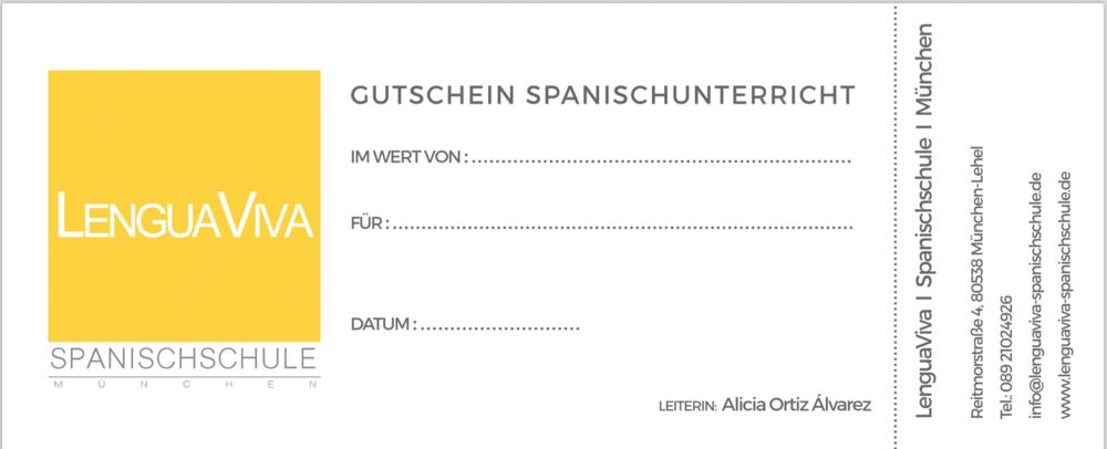 Spanisch Gutschein