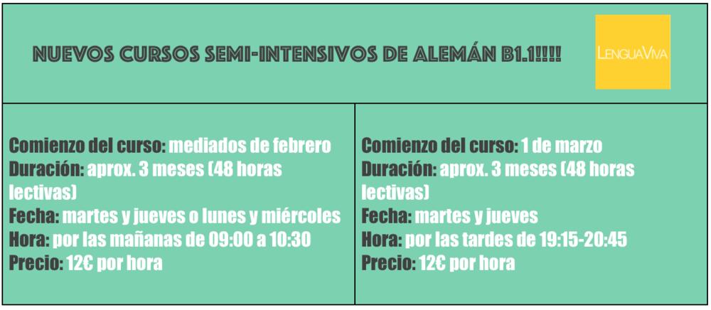 CLASES DE ALEMAN PARA ESPAÑOLES
