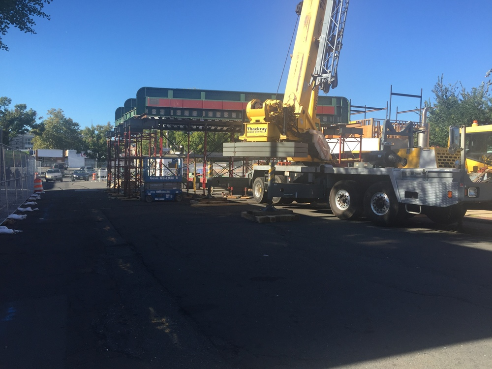 NJ Transit constructing new train trestles for Park Avenue and Watchung Avenue - October 2015