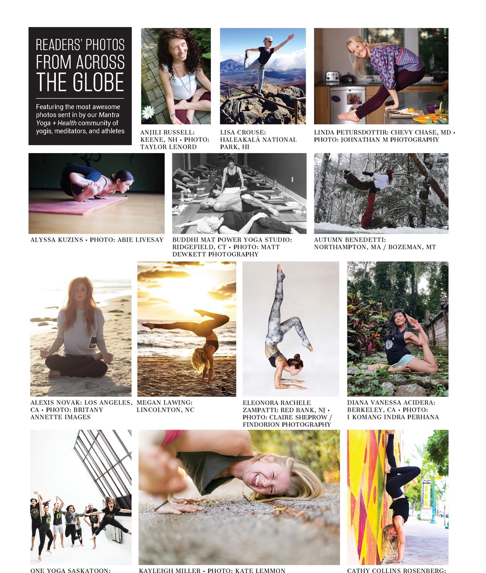 My dancer pose in the recent issue of  Mantra Yoga & Health Magazine