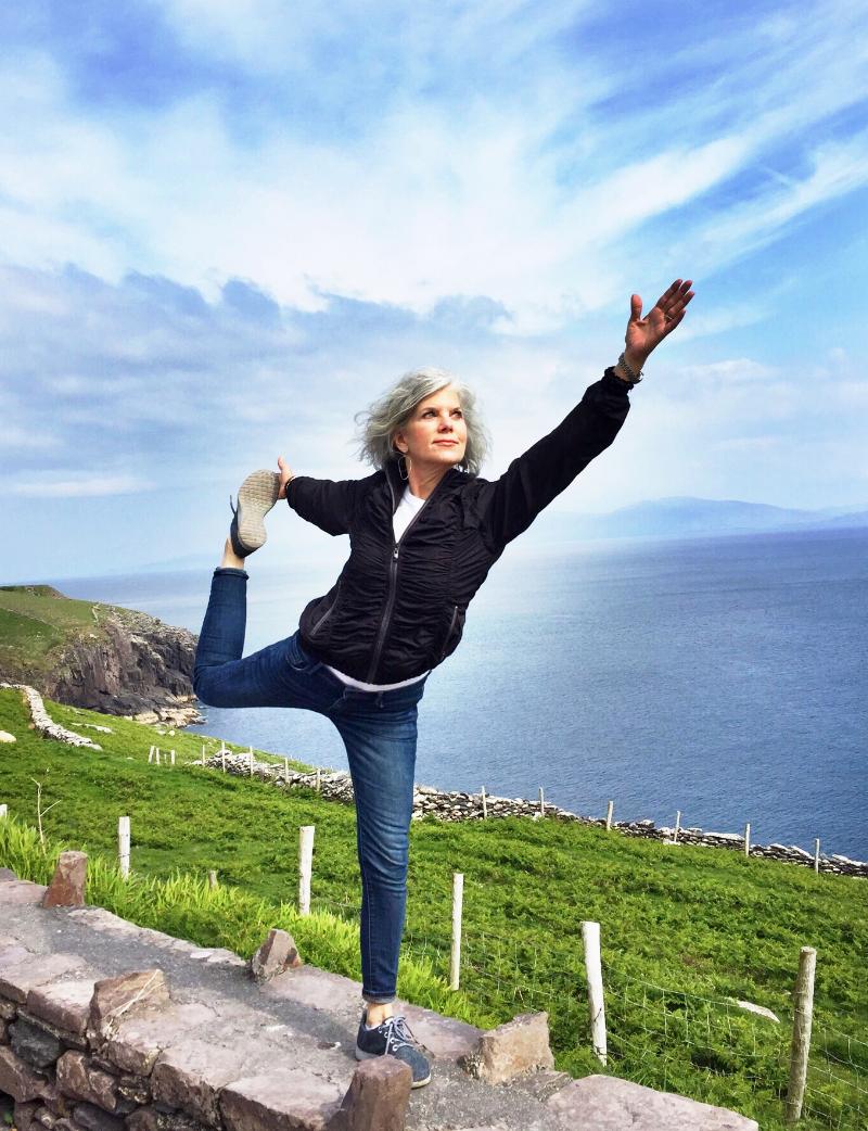 Dancer pose on the Dingle Pennisula, Ireland