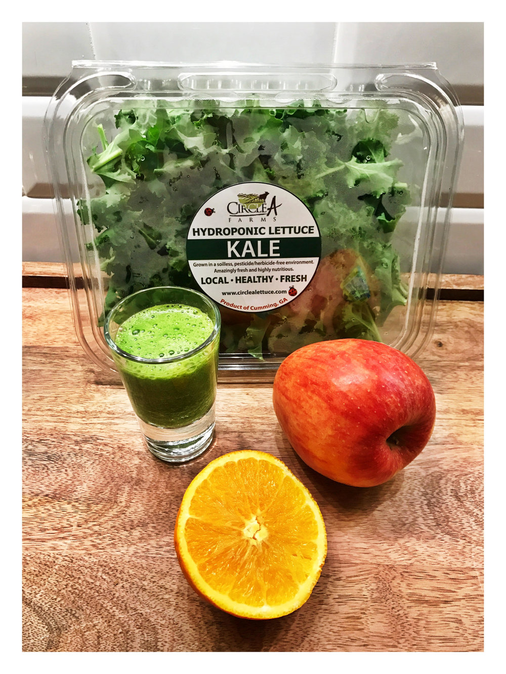 Kale shots instead of Tequila shots these days...