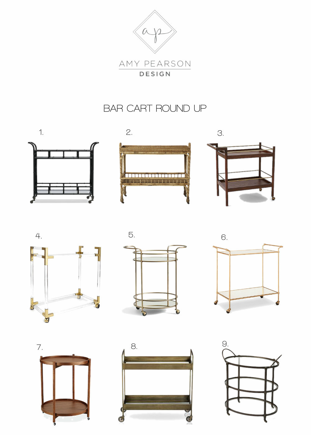 Bar Cart Round Up