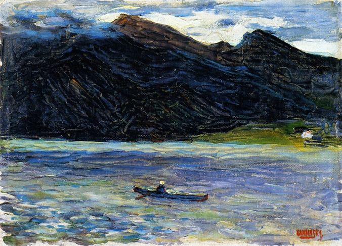 1902 Kochel Lake with Boat.jpg