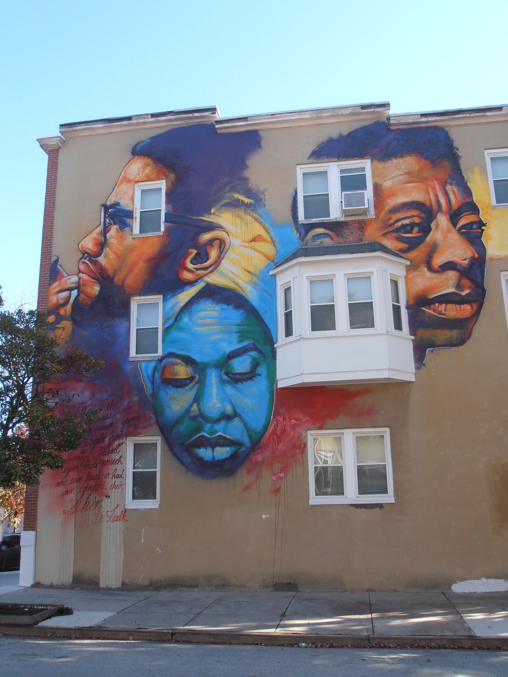 Mural by Ernest Shaw, Baltimore 401 East Lafayette Street    http://www.examiner.com/article/baltimore-artist-creates-images-to-uplift-communities