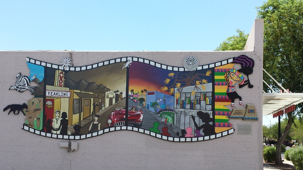 """Road to Rebirth,"" painted by Edward Buonvecchio and 10 apprentices,707 E. Western Ave."