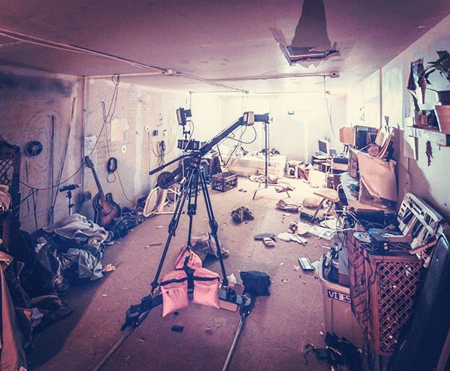 magic camera on a magic set #blackmagic #onset #tbt  #popmeetsthevoid #behindthescenes #shooting #NYC #astoria #productiondesign #independentfilm #animation #vfx  see it next week at #queensworldfilmfestival #qwff2016 #museumofthemovingimage