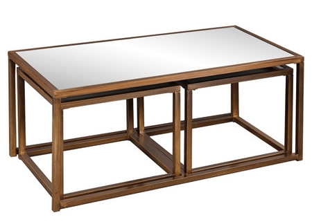 MIRRORED NESTING TABLE