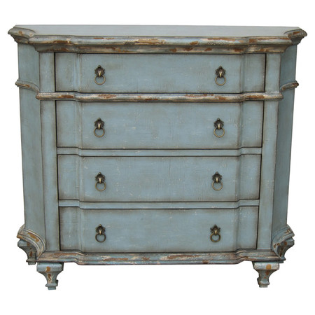HANSEN BLUE 4 DRAWER DRESSER