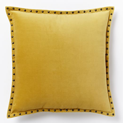 YELLOW STUDDED PILLOW