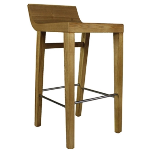 LIGHT WOOD BAR STOOL