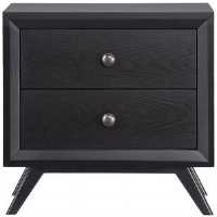 Black Tracy Nightstand  Share