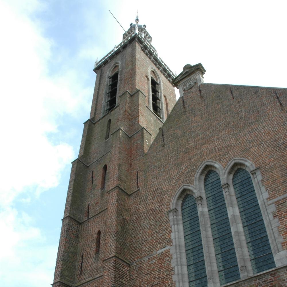 Sint Baafskerk (St. Bavo), Aardenburg   Bouwjaar:  1243  Bouwstijl: Scheldegotiek  Bouwtype:  Kerk