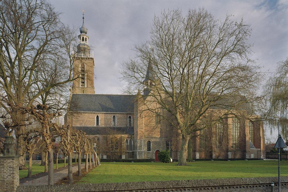 De Sint Bavokerk na de restauratie uit het midden van de vorige eeuw.