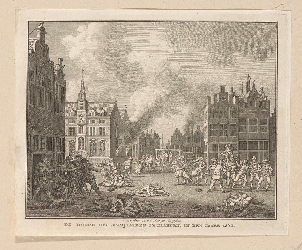 De moord op de bevolking van Naarden door de Spanjaarden op 1 december 1572.