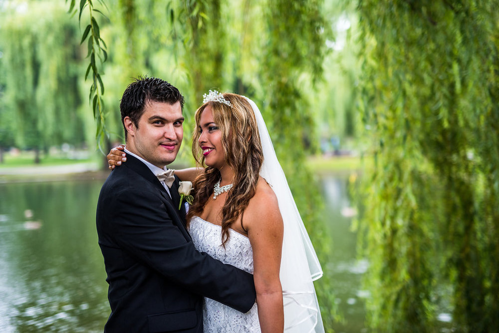 boston public garden wedding couple