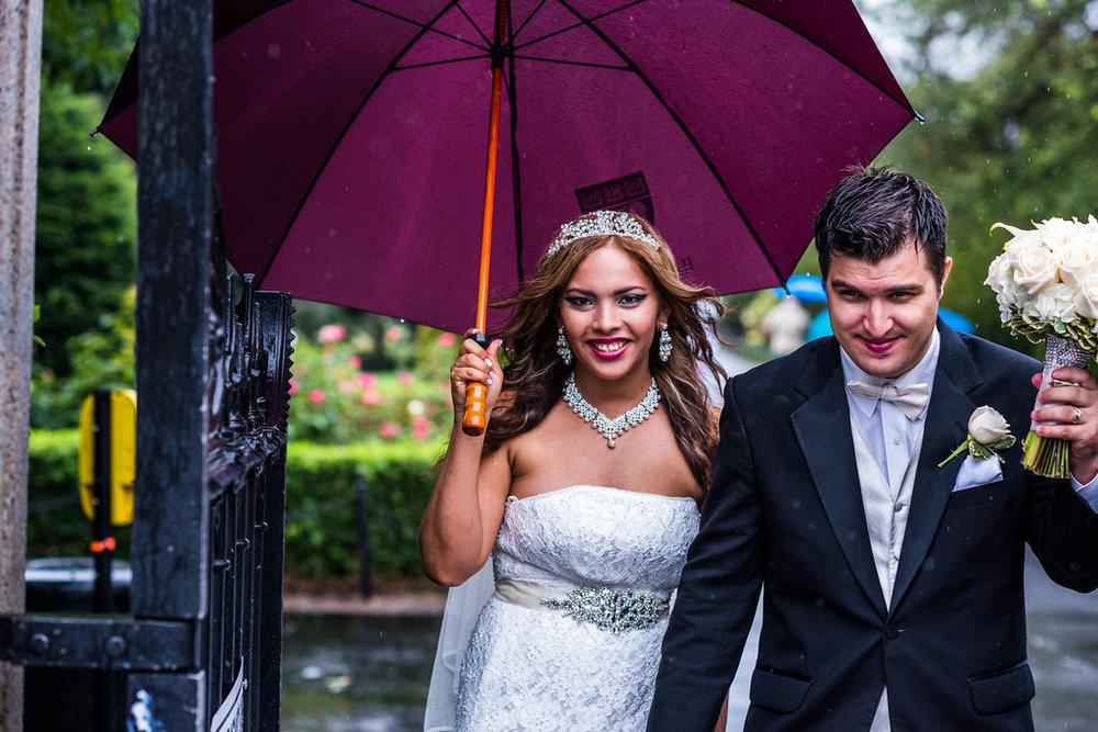 bride groom rain boston