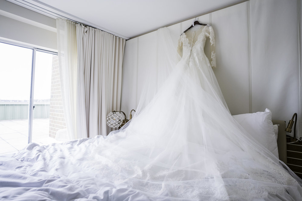 newport hotel wedding dress
