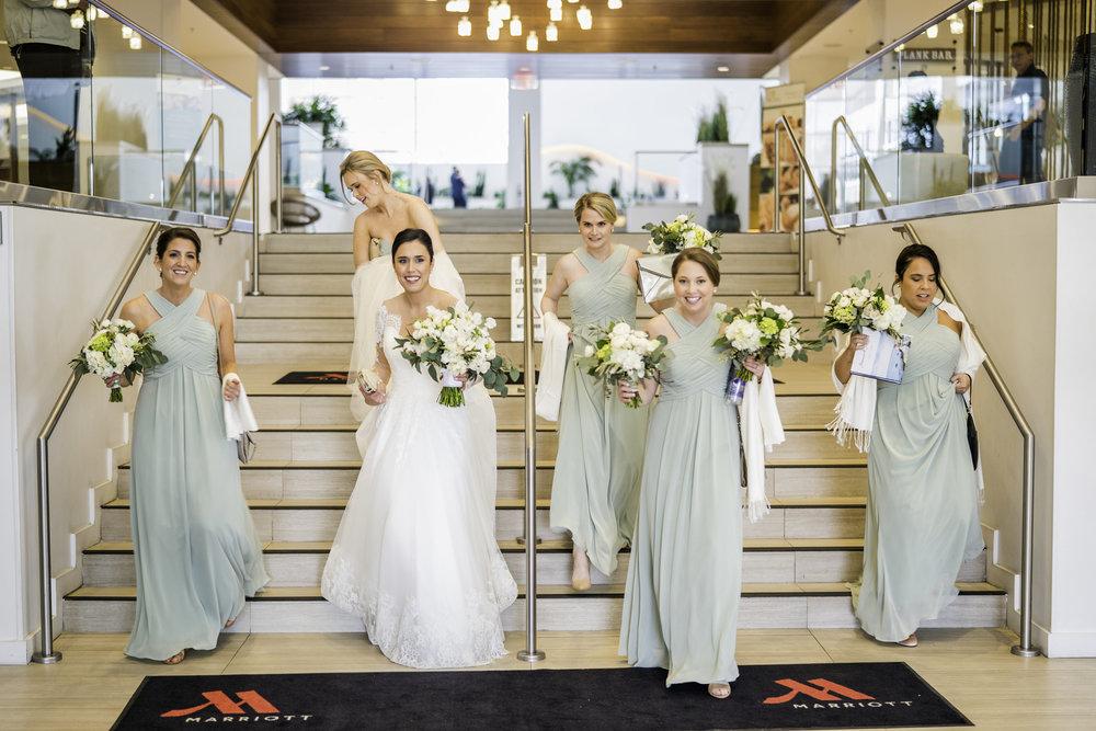 newport marriot wedding prep