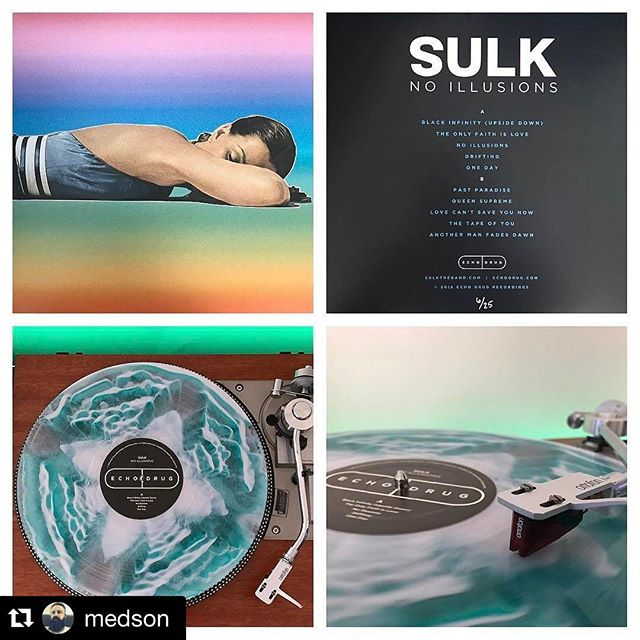 When we think of super fan we think of @medson  thanks for the constant support of our label and bands. Who else was lucky enough to score a super fan?  #Repost @medson (via @repostapp) ・・・ 💊Sulk No Illusions. 6/25 copies from @echodrugrecordings @sulktheband @waxmagerecords #echodrugrecordings #echodrug #echodrugaddict #sulktheband #noillusions #waxmagerecords #vinyl #vinylcollection #vinyljunkie #nowspinning #vintagesansui #vintagepioneer #ortofon2mred