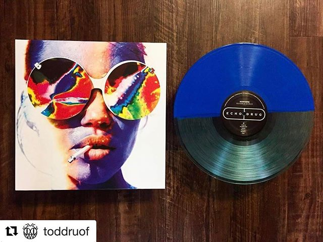 Thank you to @toddruof for the support 💊💊💊 #Repost @toddruof with @repostapp ・・・ Nowhere | Invisible World. Half Teal / Half Dark Blue Vinyl. Limited to 50 Copies.  Still enjoying the hell out of this album. Perfect psych pop. Super fun album all the way through. And another gorgeous variant from @echodrugrecordings! #nowhere #invisibleworld #psych #psychpop #psychedelic #shoegaze #echodrugrecordings #limitededition #coloredvinyl #vinyl #vinylclub #vinylporn #vinyladdict #vinyligclub #vinyljunkie #vinylrecords #vinylcollection #vinylcollector #vinylcommunity #record #records #recordoftheday #recordcollector #recordcollection #np #nowplaying #nowspinning #onmyturntable