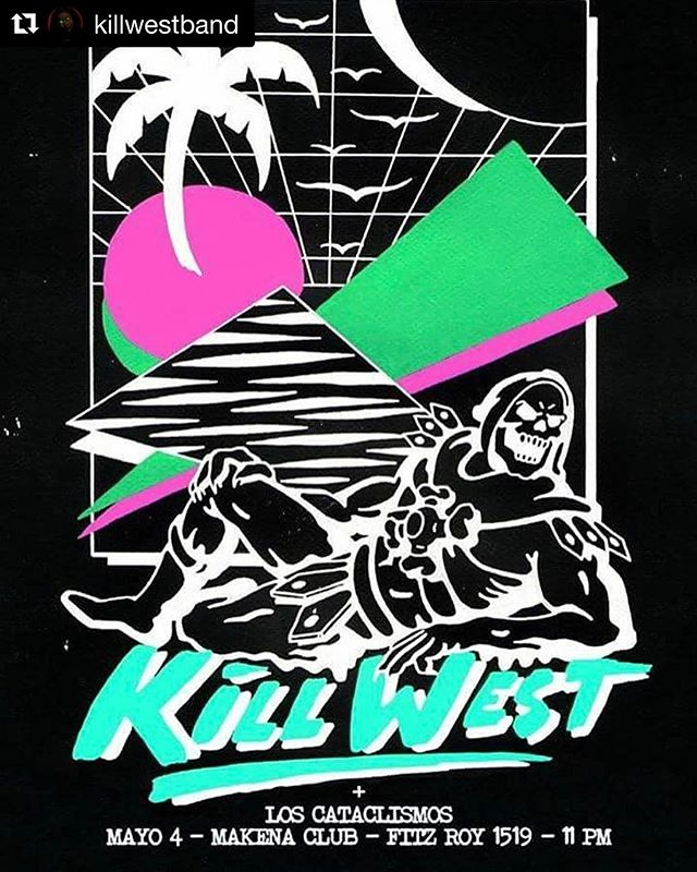 Don't miss this! @killwestband  #Repost @killwestband with @repostapp ・・・ Este jueves junto a Los Cataclismos a partir de las 23hs.