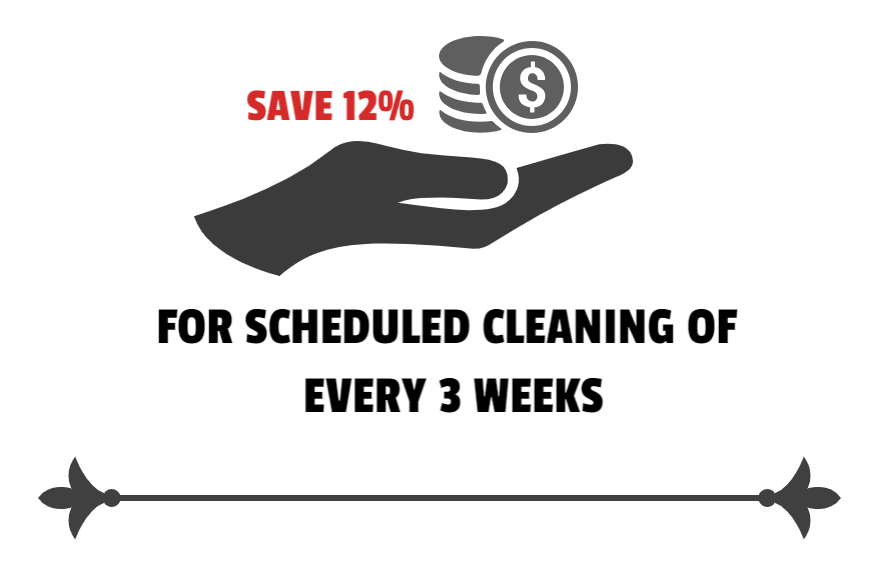 12 % discount on cleaning service