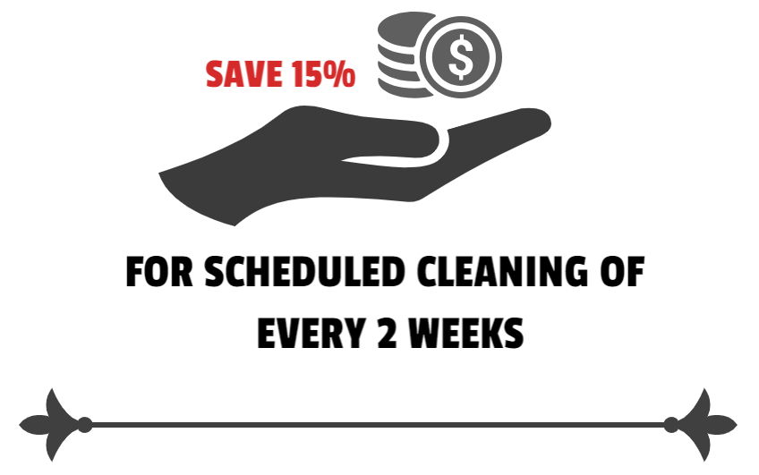 15% discount on cleaning service