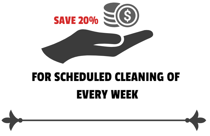 20 % discount on cleaning service