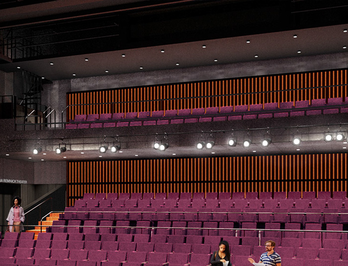 Interior of the mainstage of MCC Theater's new home.