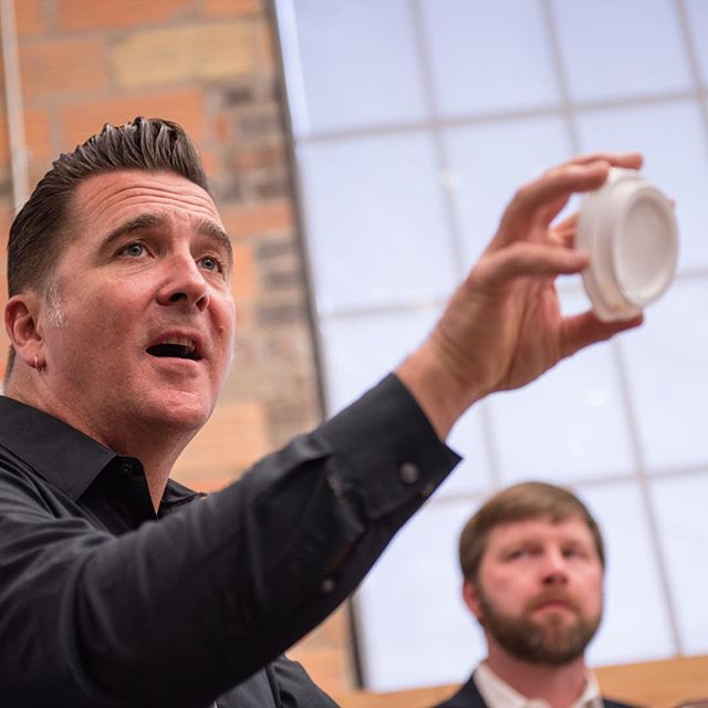It was awesome to have @steltzneradam at @garagerapidcity last month for #MorningFillUp. Next week, we welcome #JasonPurnell for a@conversation around racial inequalities in America. Join us!