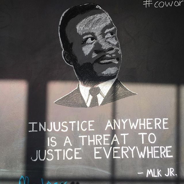 A powerful reminder on the @garagerapidcity office wall. #MLK #50years