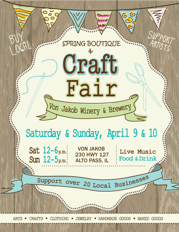 Spring Boutique Craft Fair Von Jakob Winery Brewery Southern