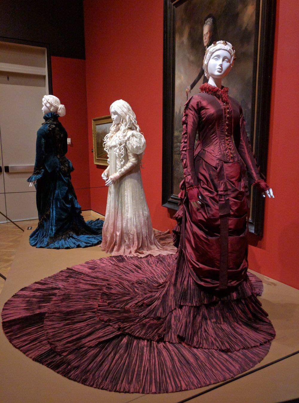 Costumes from Crimson Peak on display at Mia