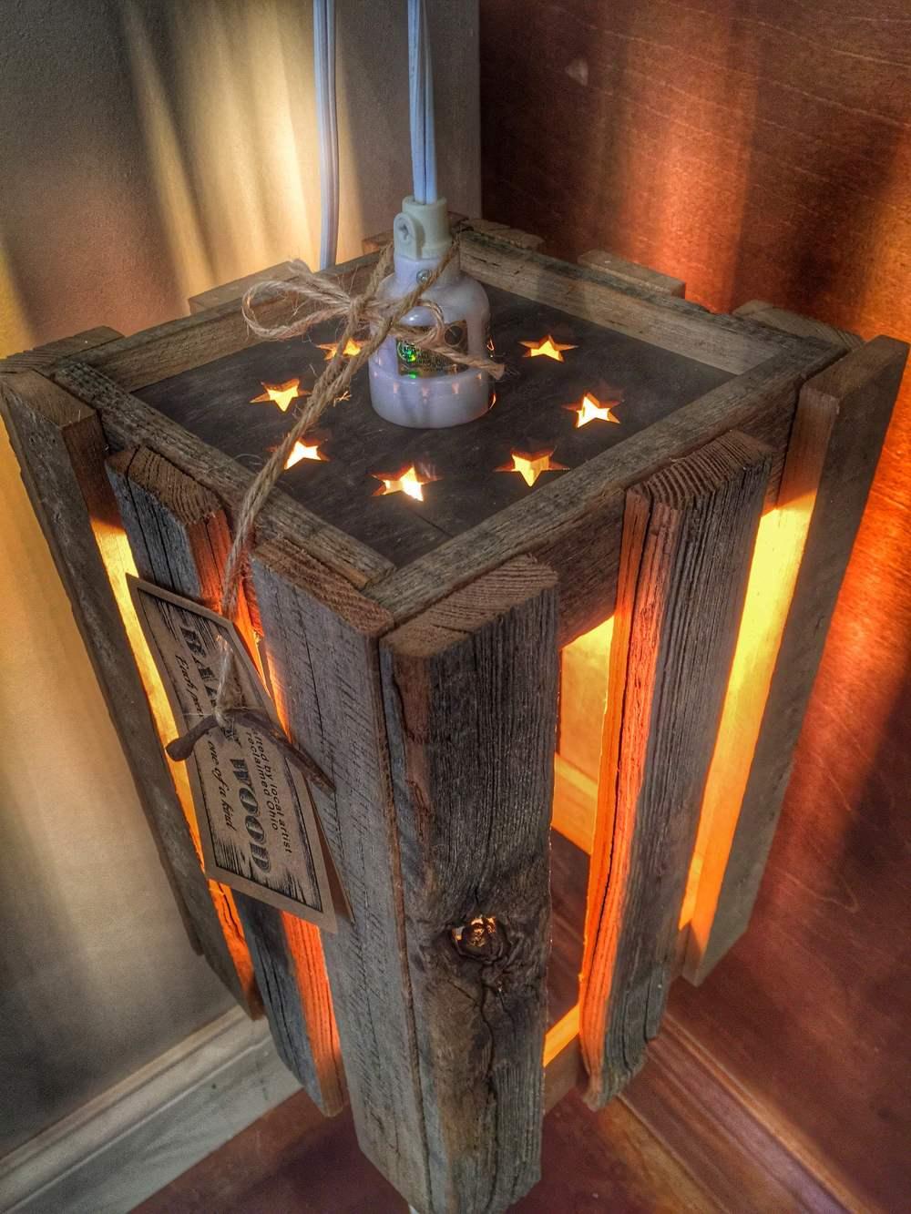 Reclaimed Wood Edison Star Light