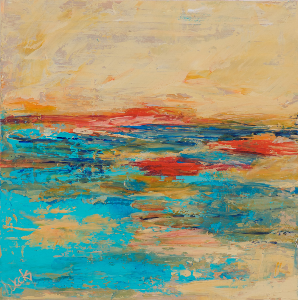 Distant Horizon 8x8 Encaustic.jpg
