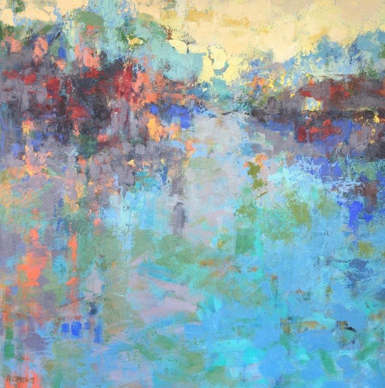 Shining Harbor_36x36_acryloc on canvas_Clements.jpg
