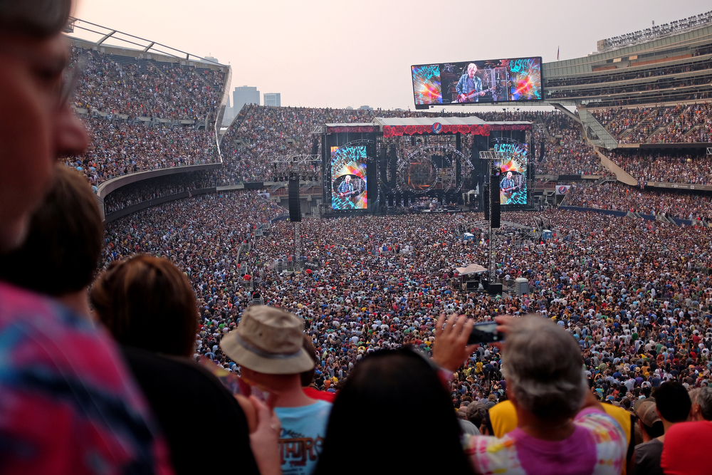 The Grateful Dead perform their final show at Soldier Field in Chicago Sunday, July 5, 2015. (Erin Hooley/Chicago Tribune)