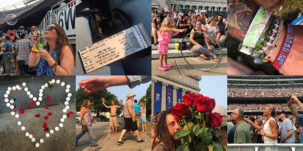 Instagram scenes from the Grateful Dead final show at Soldier Field in Chicago Sunday, July 5, 2015. (Erin Hooley/Chicago Tribune)