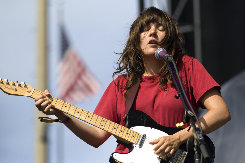 Courtney Barnett performs with her band at the Pitchfork Music Festival in Union Park in Chicago Sunday, July 19, 2015. (Erin Hooley/Chicago Tribune)