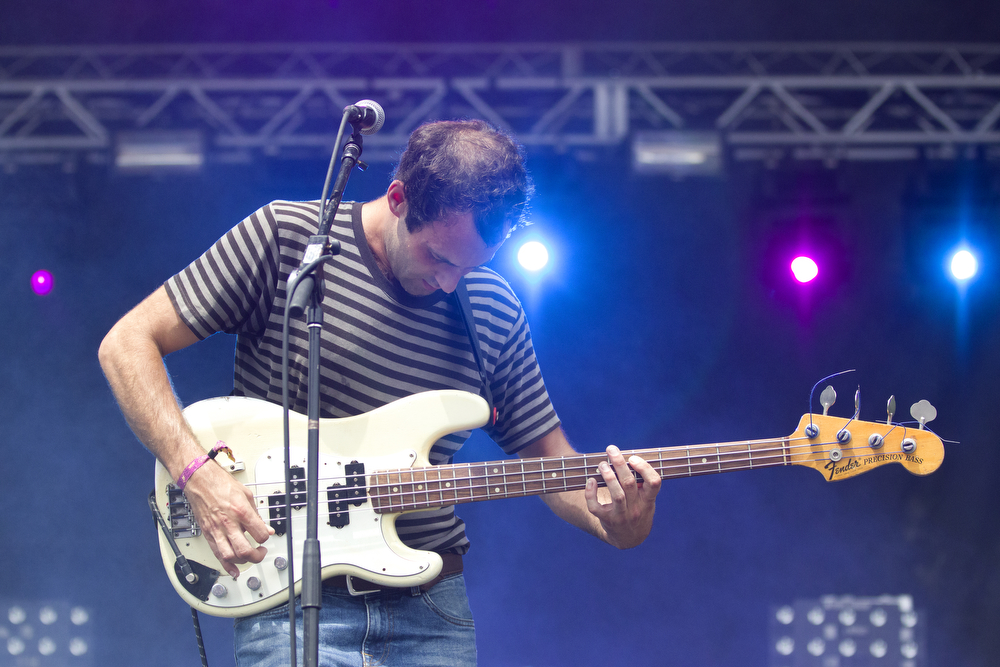 Matt Flegel performs with his band Viet Cong at the Pitchfork Music Festival in Union Park in Chicago Sunday, July 19, 2015. (Erin Hooley/Chicago Tribune)
