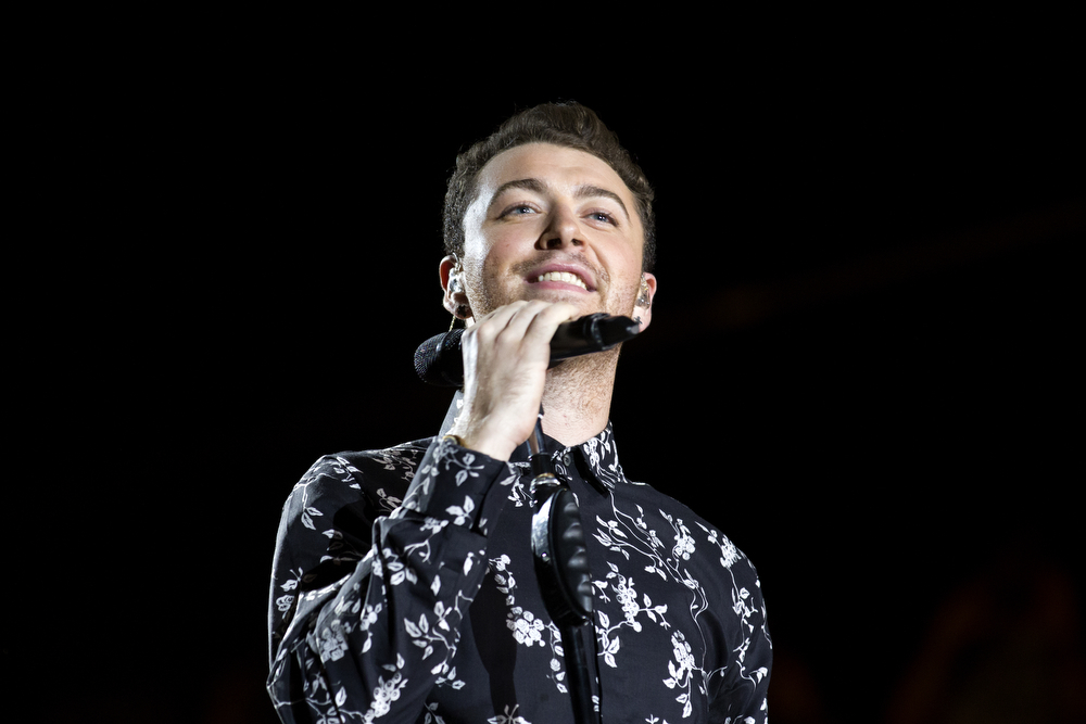 Sam Smith performs at the Lollapalooza Music Festival Saturday, August 1, 2015. (Erin Hooley/Chicago Tribune)