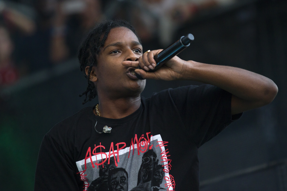 A$AP Rocky performs at the Lollapalooza Music Festival in Grant Park Sunday, August 2, 2015. (Erin Hooley/Chicago Tribune)
